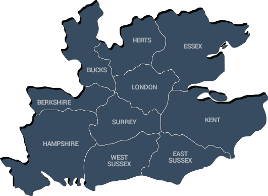 London and home counties map