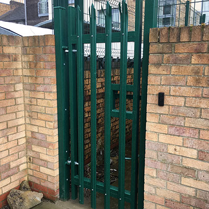 Final Installation and Testing of Single Palisade Swing Gate