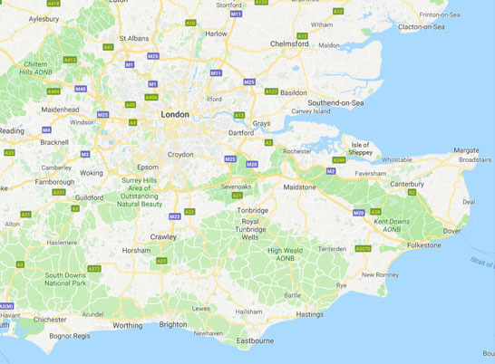 Coverage Throughout the Home Counties