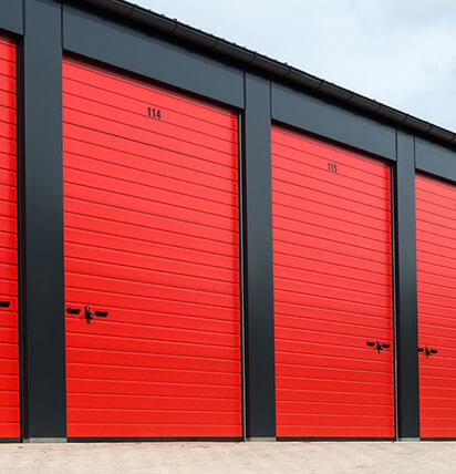 Red Insulated Roller Shutters