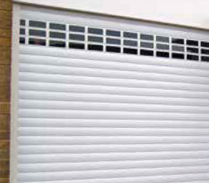 White Domestic Roller Garage Door