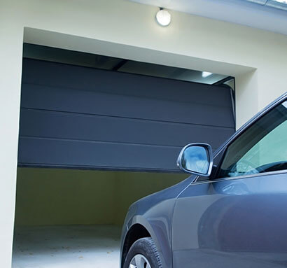 sectional garage door opening