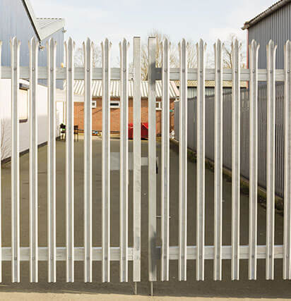 White Security Gate