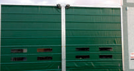 Twin Green Speed Doors