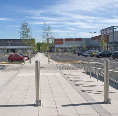 Static and Retractable Bollards for Commercial Car Park